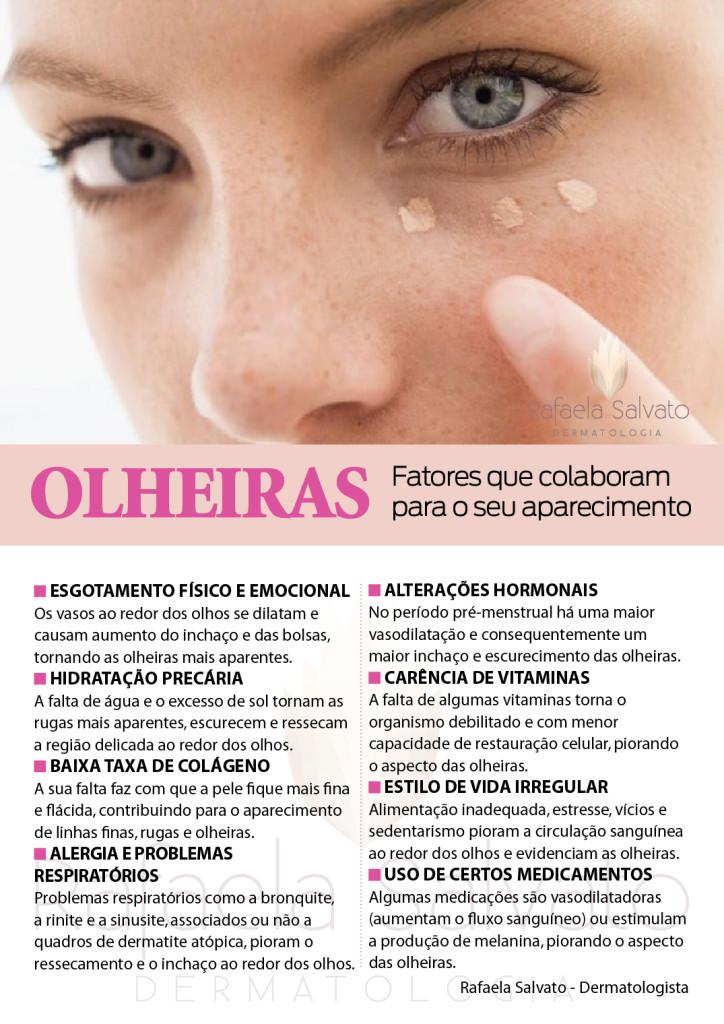 olheiras infografico Rafaela Salvato Dermatologia